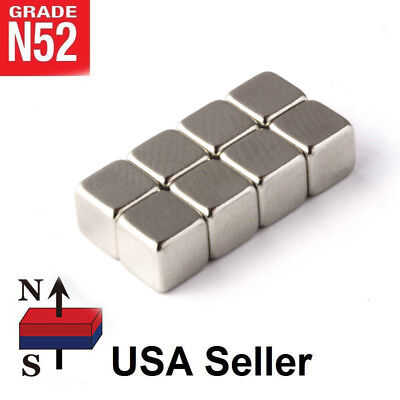 Lot Neodymium Block Square Magnet10x10x10mm N52 Big Strong Rare Earth Magnets
