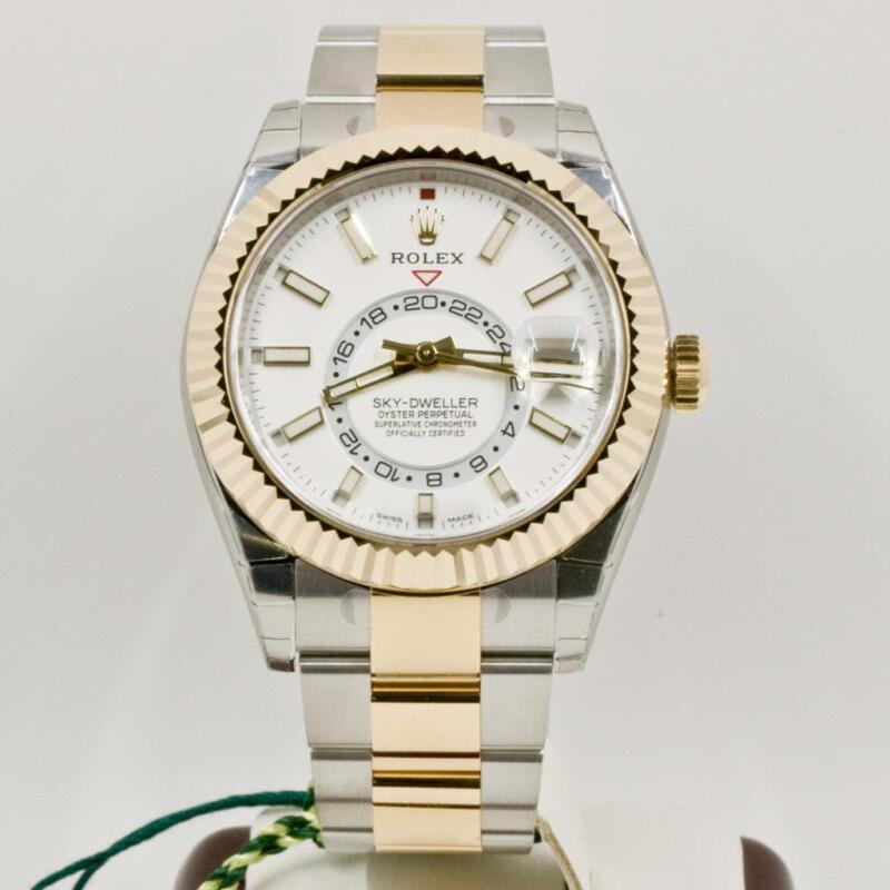 Rolex Sky Dweller Model 326933 Newest Edition White Dial 2017 Box & Papers