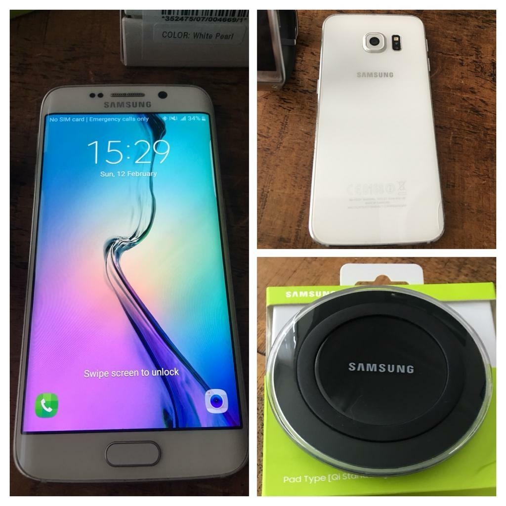 Samsung Galaxy S6 EdgeSamsung Wireless Chargerin Portsmouth, HampshireGumtree - Samsung Galaxy S6 Edge & Samsung Wireless Charger.Samsung Galaxy S6 Edge, 64gb in pearl white tiny scratch to corner but only 6 months old. Been using as pay you you go on EE but not sure if unclocked to other networks. Also comes wire a Samsung...
