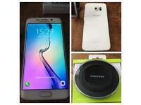 Samsung Galaxy S6 Edge & Samsung Wireless Charger.