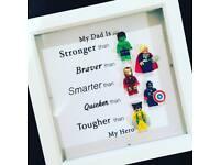 My dad is my hero frame