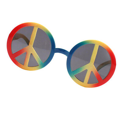 Peace Sign Glasses (Novelty World Peace Sign Rainbow Glasses Photo Props Party Events)