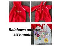 Girls Rainbow uniform size medium