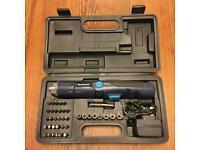 Electric screwdriver in box