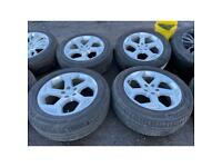 """21"""" land Range Rover sport alloy wheels alloys rims tyres fit discovery defender 120"""