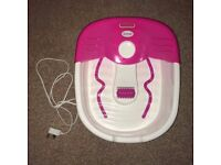 Pink and White Scholl Foot Spa. Great Condition.