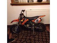 ktm sx mini adventure 50cc 2003 in excellent condition