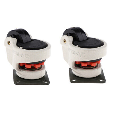 2x Retractable Leveling Machine Stem Casters Plate Mounted Home Improvement