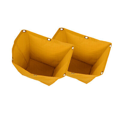 2x Janitorial Cleaning Cart Bag Replacement Housekeeping Cart Bag Yellow