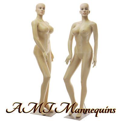 Female Sexy Mannequinmetal Stand Fullbody Busty Realistic Manikin-sp242wigs