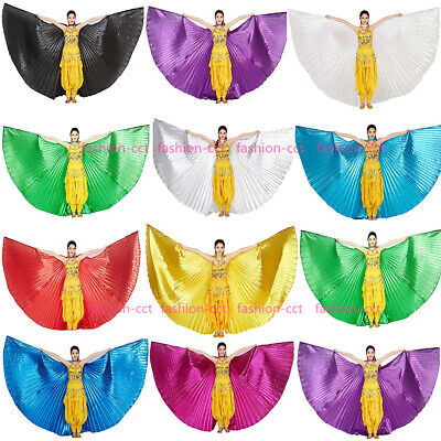 UK Belly Dance Isis Wings with Sticks Angel Wings for Halloween Carnival Show