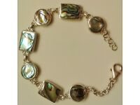 Sterling Silver & Abalone Paua Shell Bracelet - Stock Clearance - Many Other Items