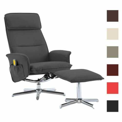 vidaXL Massagesessel Hocker Kunstleder TV Sessel Relaxsessel mehrere Auswahl