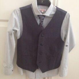 Boys Debenhams Bluezoo Shirt,Tie & Waistcoat Age 9