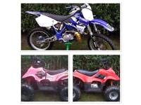 Yz 125 and two kids auto quads for sale read ad