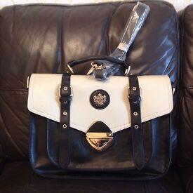 Brand new, black leather style shoulder bag