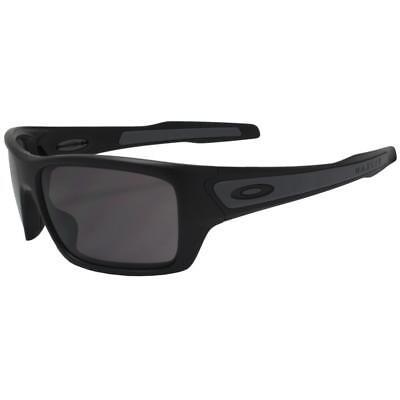 8b2b52135f9a0 Oakley OO 9263-01 TURBINE Matte Black Frame w  Warm Grey Lens Mens  Sunglasses