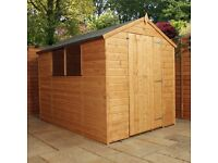 Shed, Brand new, Apex roof 8x6 delivered for £399.99
