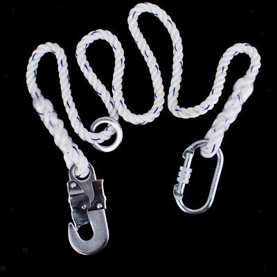 23kn 13mm Safety Harness Lanyard Strap Fall Protection Arial Rock Climbing
