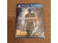 PS4 uncharted 4 brand new in cellophane wrapping