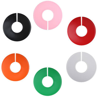 Jf 5-100pcs Clothing Blank Size Rack Ring Closet Divider Organizer Colors