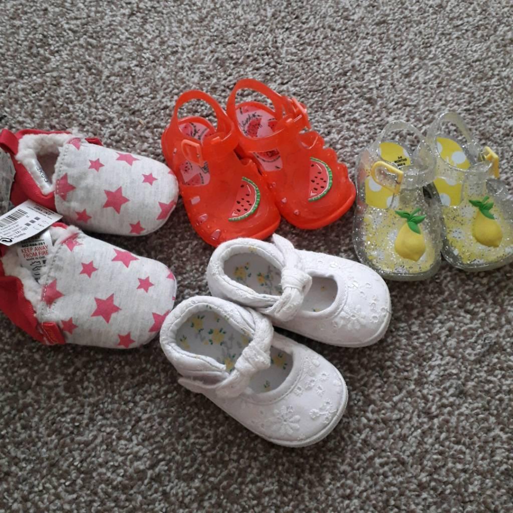 Baby girl bundle of hats and shoes