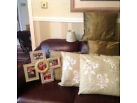 Cushions, lampshades, vase & more!