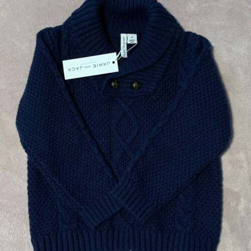 2 T Janie & Jack Navy Blue cable knit Cardigan Sweater Toddler Boy NWT