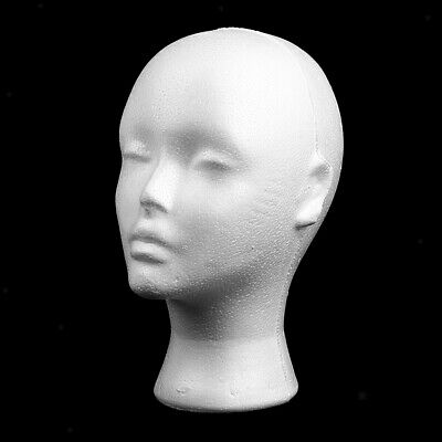Femalestyrofoam Model Head With Ear Mannequin Stand Wig Hair Hat Display