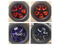 """New Coloured Ford Transit Custom 16"""" Alloys With New Tyres"""