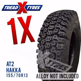 1 x New 155/70R13 Hakka AT2 Tyre - 155 70 13 - Fitting Available