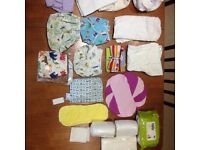 Large selection of never been used real nappies