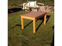 Modern Oak extending Table