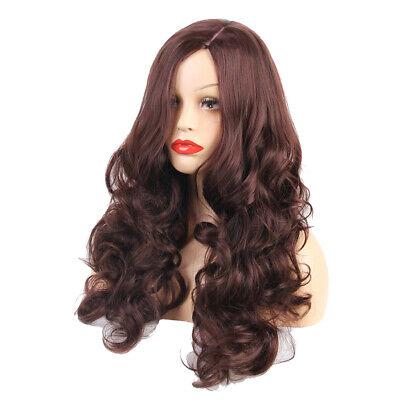 Synthetische gewundene lockige Haare Perücke Hellbraune gewellte Haarteile (Hellbraun Synthetische Perücke)