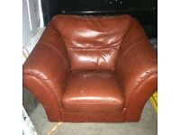 Leather chair free real leather made in Italy