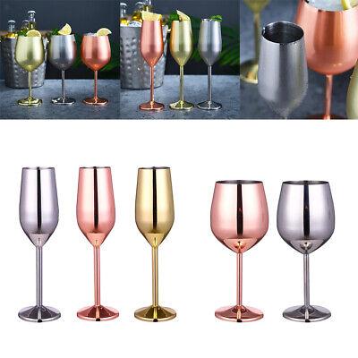 Bicchieri di vino In Acciaio Inox Calice di Champagne Bicchiere Da Cocktail