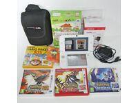 Nintendo 3DS XL Animal Crossing Edition Bundle Pokemon Sun Moon Omega Red Mario