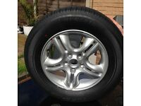 Kia sportage XS NEW alloy wheel with unused, brand new Bridgestone tyre