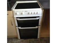 White beko electric double oven