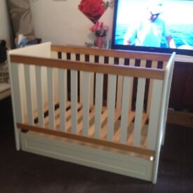 Mamas and papas cot with underneath draw
