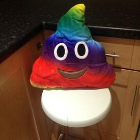 NEW rainbow poo pillow.