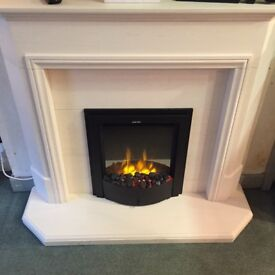 BRAND NEW LIMESTONE FULL FIREPLACE SUITE