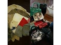 159 items women's clothes, shoes, bags.