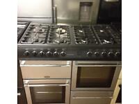 Black/Silver 8 Burner cooker