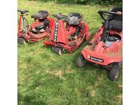 Job lot of ride on lawnmowers £200
