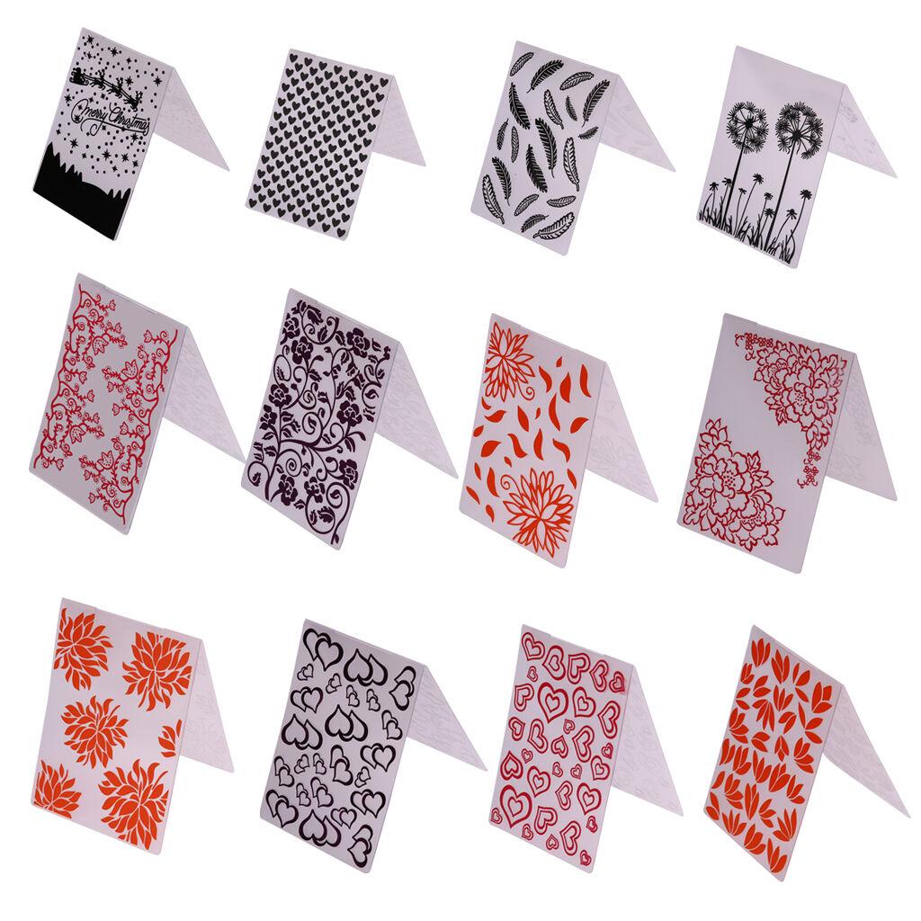 Plastik Prägepapier Schablone DIY Scrapbooking Papier Karten Machen Handwerkzeug