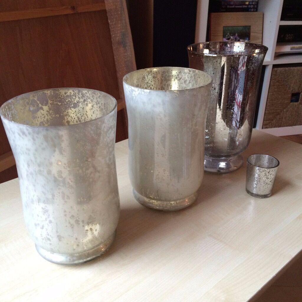 Large glass candle holders vases wedding