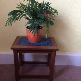 Small bedside table with tiles on the top. SUPERSTRONG ONO. BS16. Fishponds.