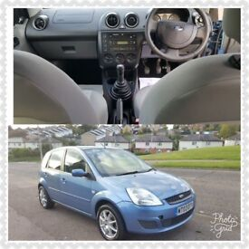 FORD FIESTA 1.25 MANUAL, 1 YEAR MOT,VERY GOOD DRIVE, LOW MILEAGE ONLY 41455