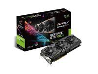 ASUS GeForce GTX 1080 Ti ROG STRIX GAMING 11GB GDDR5X VR Ready Graphics Card, 1607MHz Boost